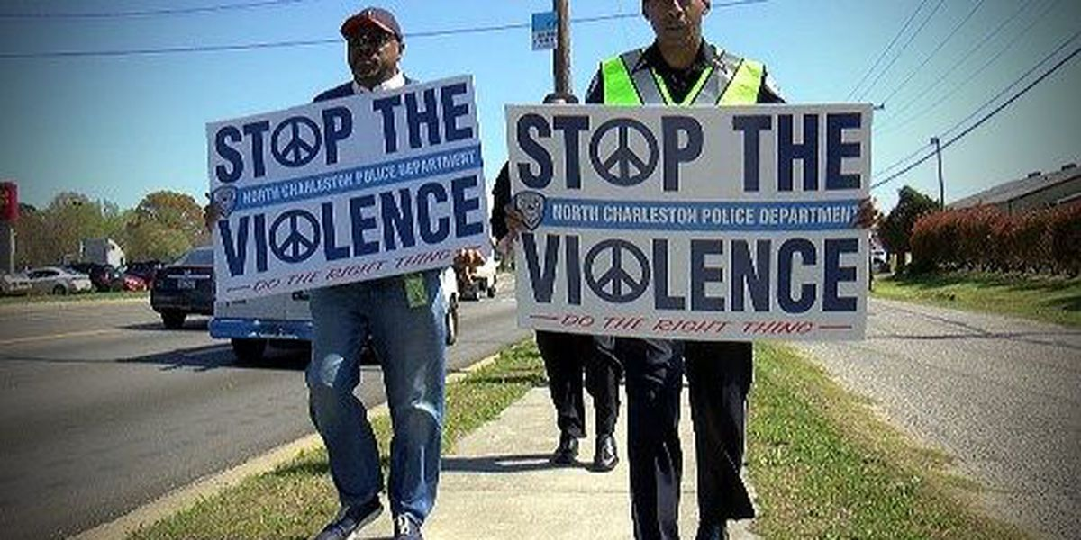N. Charleston police chief takes second march against violence