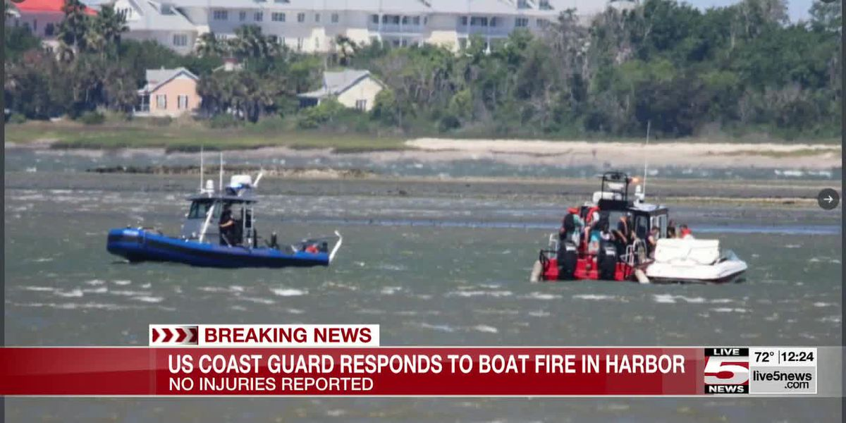 VIDEO: Crews put out boat fire in Charleston Harbor