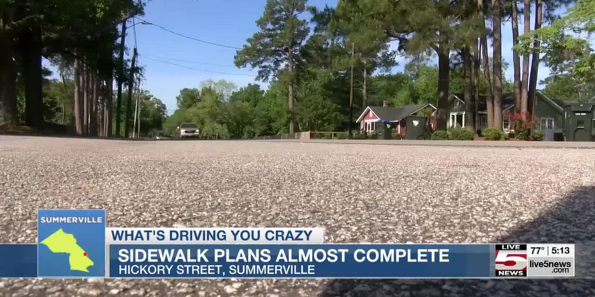 VIDEO: What's Driving You Crazy: No sidewalks on N. Hickory Street in Summerville