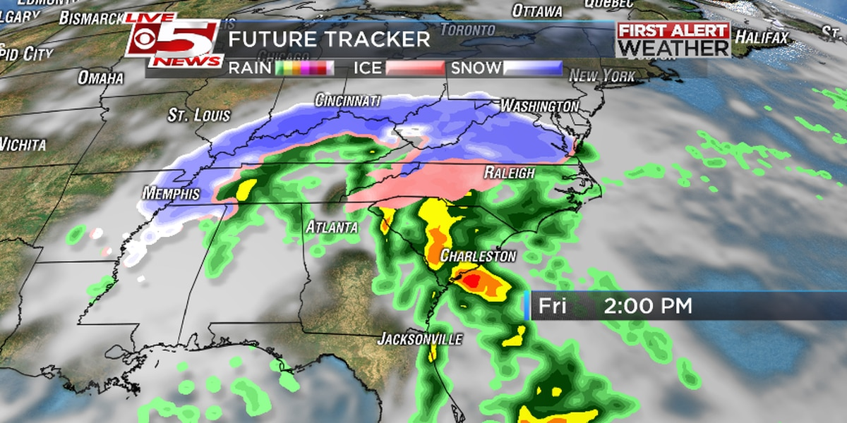 Expect mostly rain in the Lowcountry Friday, snow flurries possible Saturday
