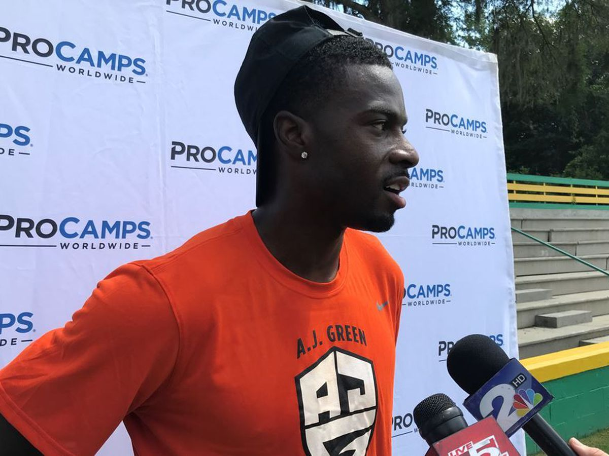 AJ Green back home for kids camp