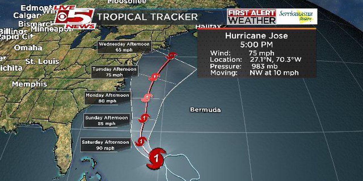 FIRST ALERT: 5 p.m. Update: Jose becomes Hurricane again, Lowcountry to experience higher risk of rip currents