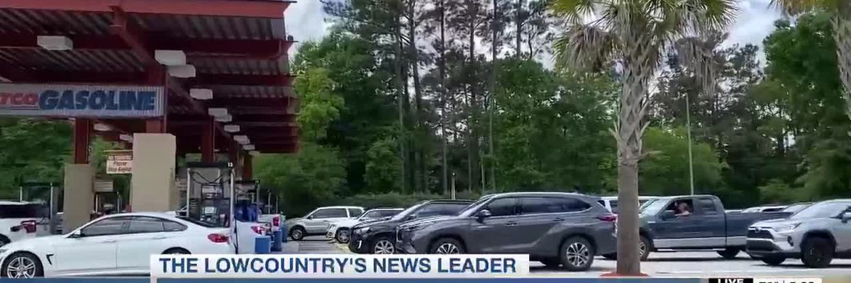 VIDEO: Some gas stations report long lines as people race to fill their tanks