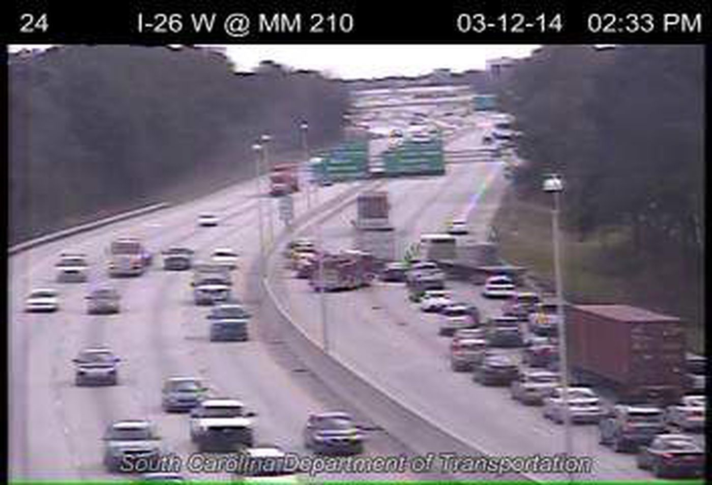 I-26 EB slow moving following accident in N  Charleston