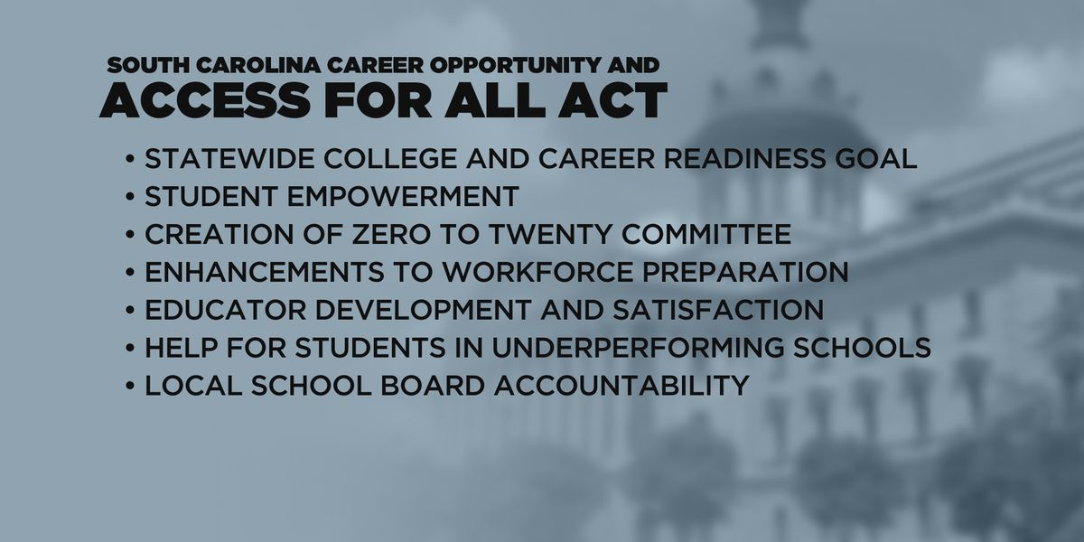 SC lawmakers file 'comprehensive' 84-page bill on education reform