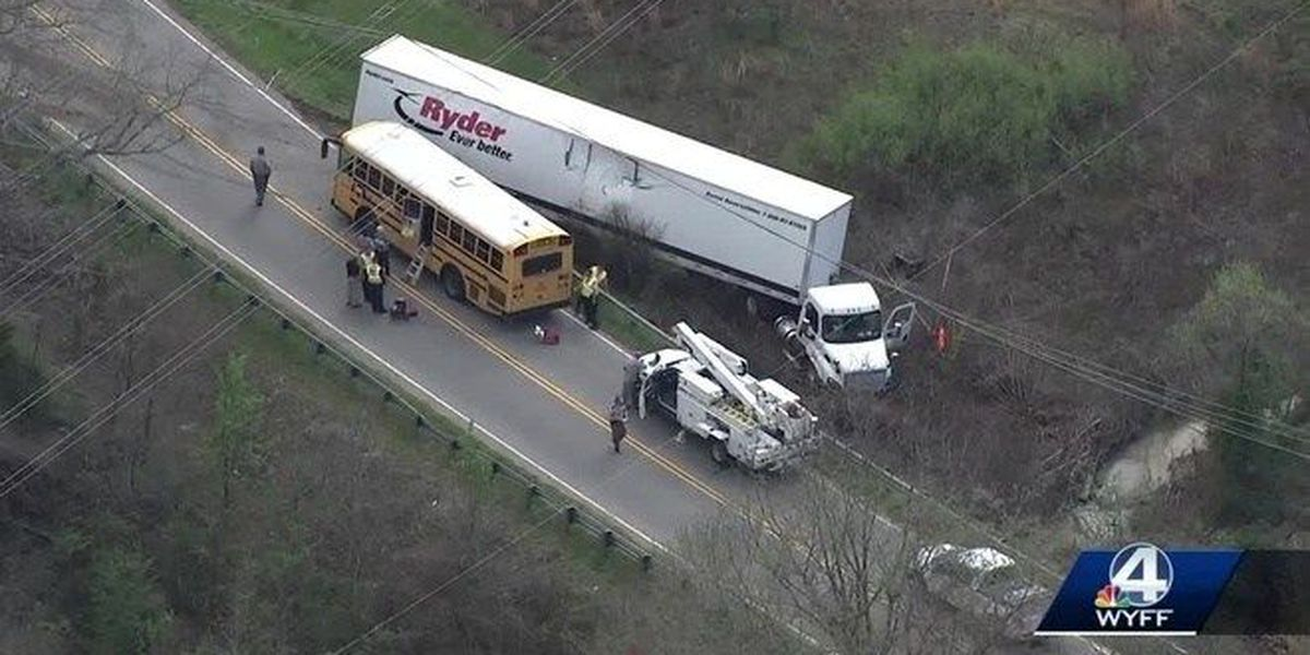 Video shows tractor-trailer hit SC school bus carrying special needs students