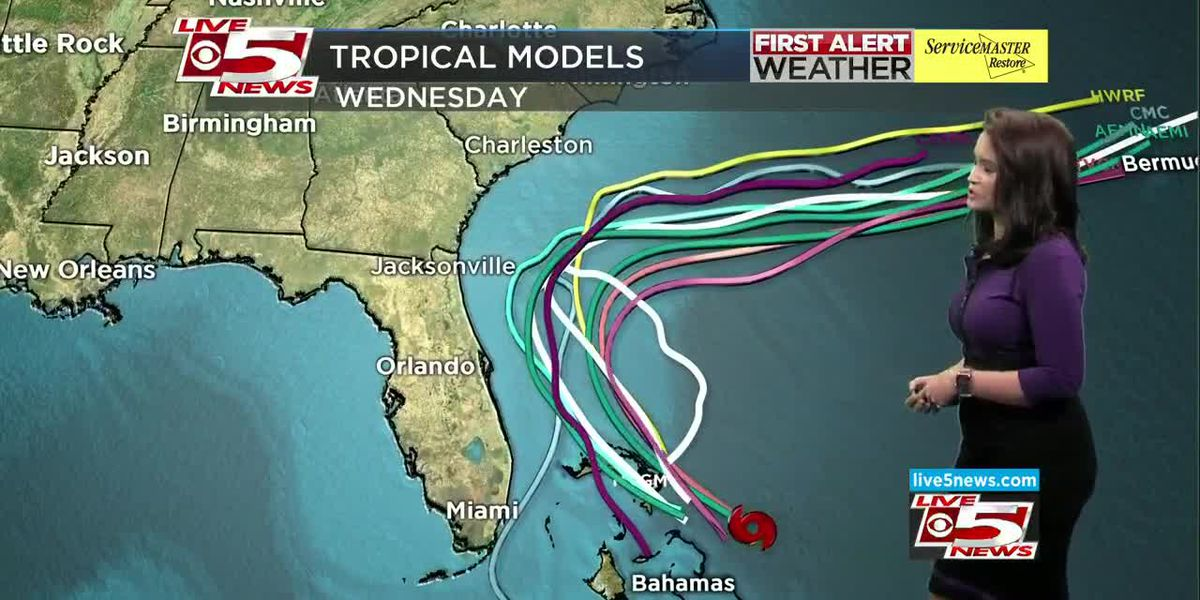 VIDEO: Depression strengthens to Tropical Storm Humberto; potential for heavy rainfall in SC