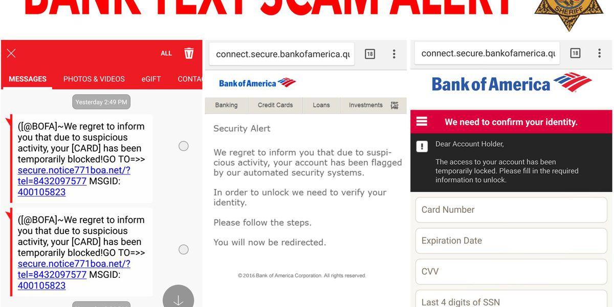 Berkeley Co. Sheriff's Office warning residents on bank scam