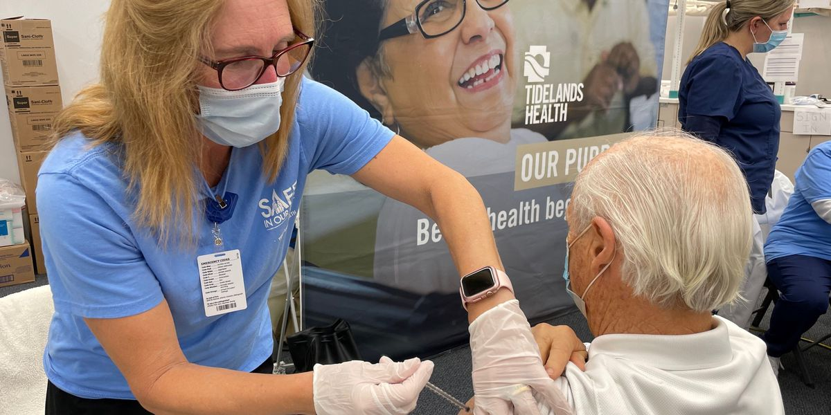 'My feeling is relief': Tidelands Health begins giving those 70 and older second doses of COVID-19 vaccine