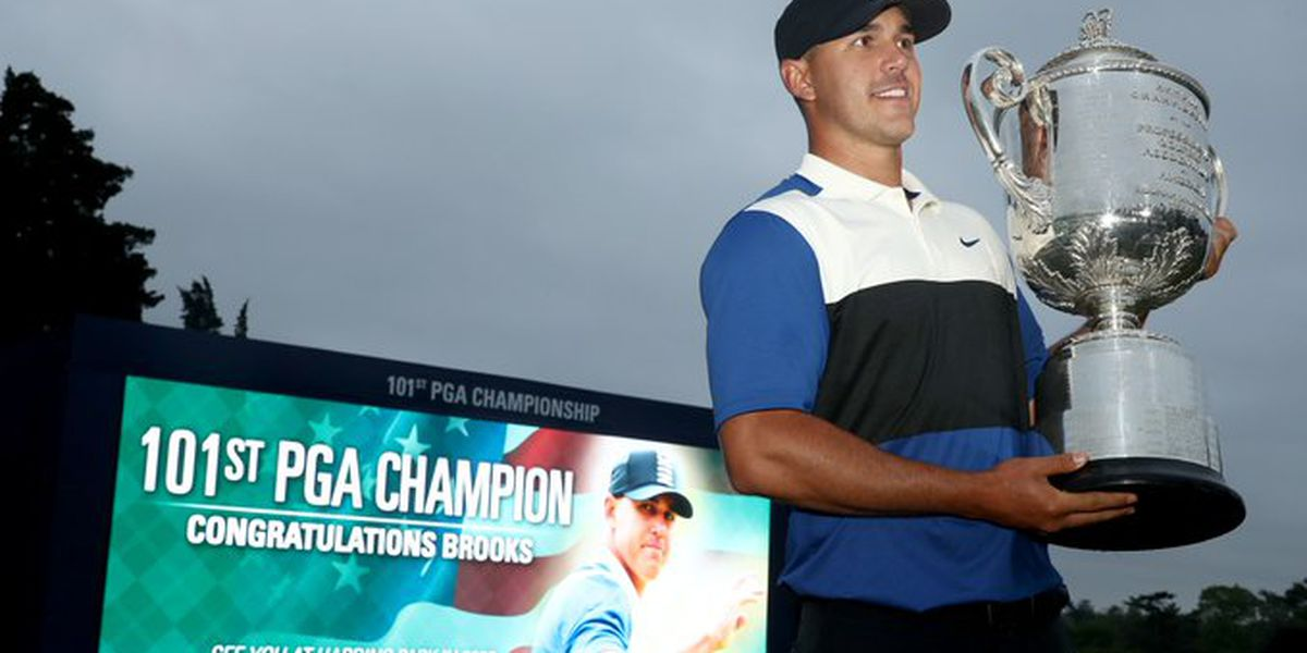 Koepka holds on, wins PGA Championship again