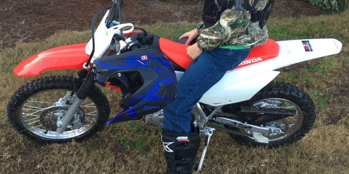 Deputies ask for help in locating stolen dirt bike