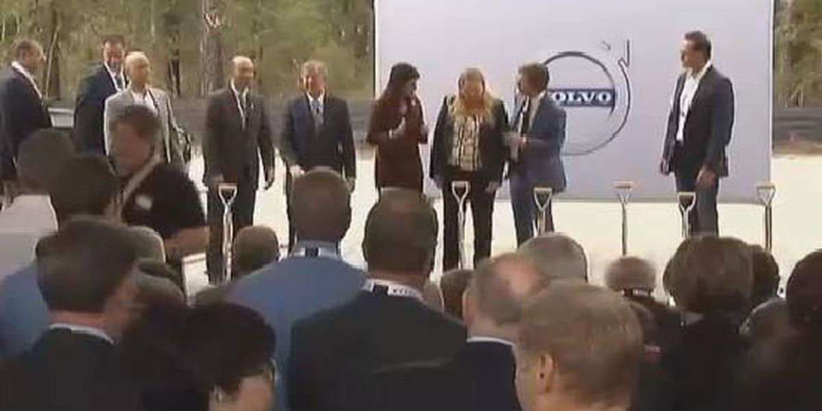 Volvo breaks ground on $500M manufacturing plant in state