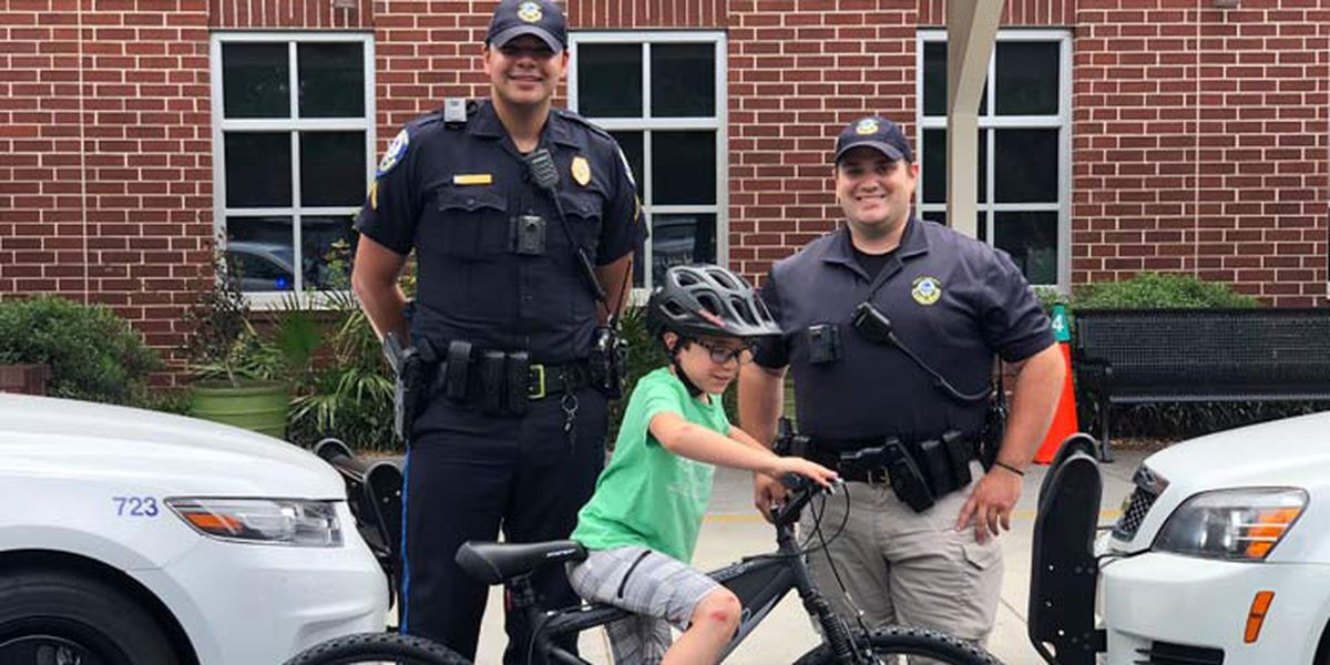 Police replace bicycle for boy injured in hit and run