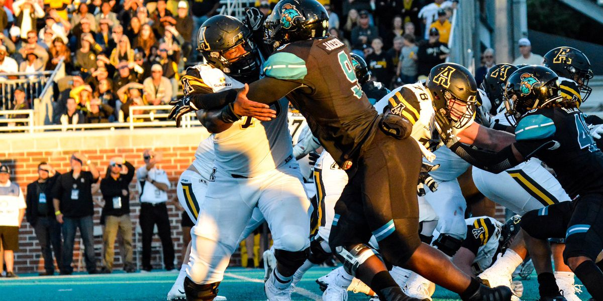 Coastal Falls to App State on Homecoming Weekend
