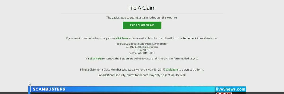 VIDEO: Live 5 Scambusters: Beware of fake websites targeting the Equifax settlement