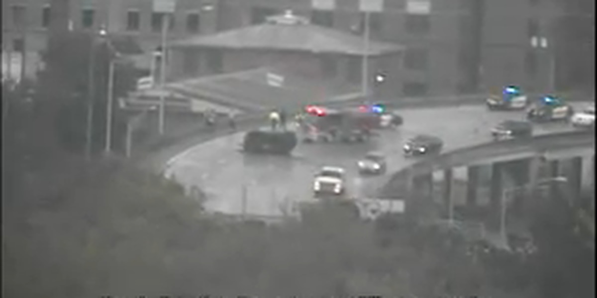 Lanes on I-26 reopened after collision involving overturned vehicle