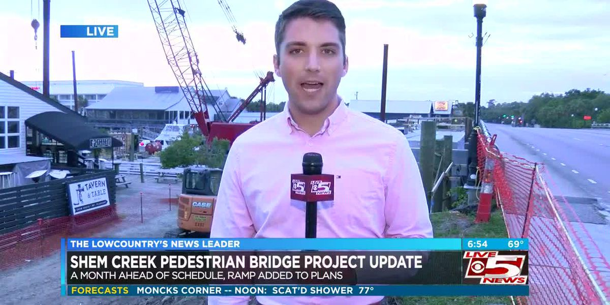 VIDEO: Shem Creek pedestrian bridge could be opening sooner than originally thought