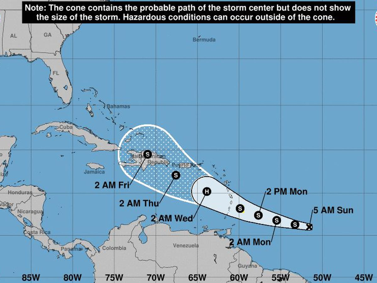Tropical storm warning issued for Barbados as Dorian nears