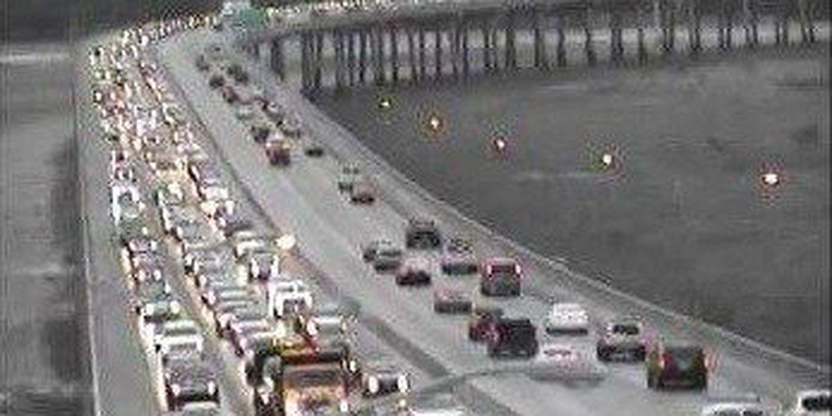 Traffic slow moving along I-526 following major delays Thur. morning