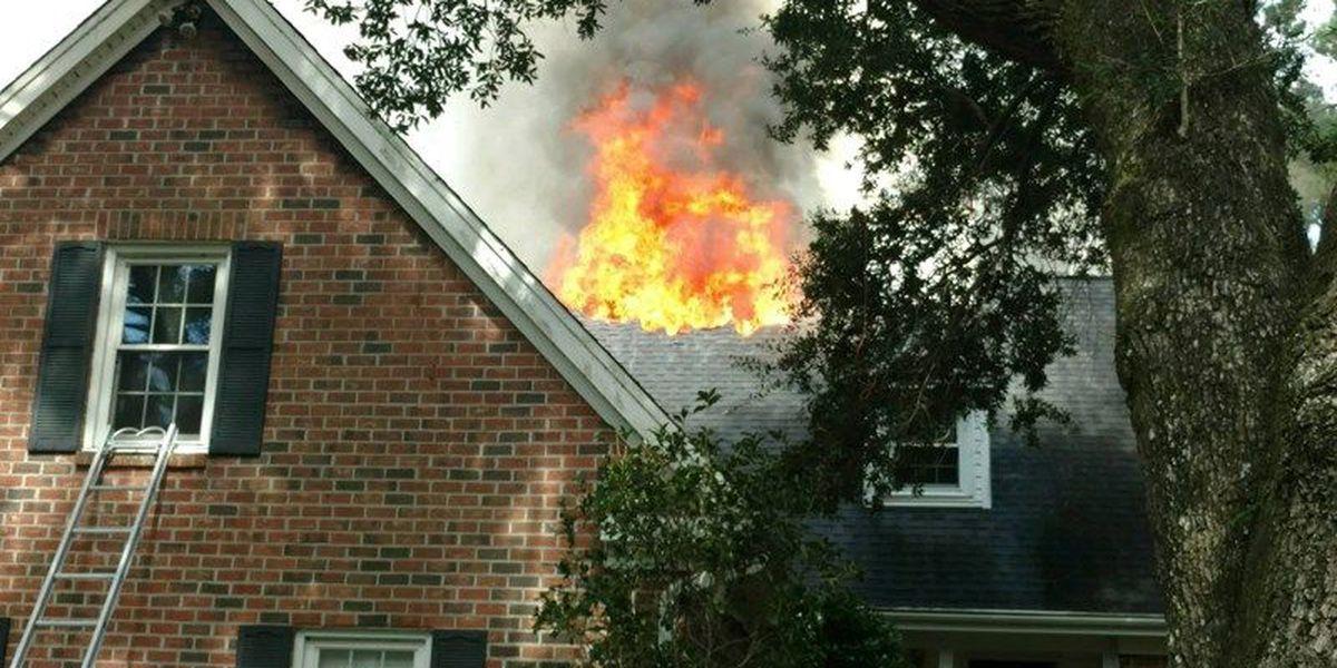 Emergency crews extinguish house fire on James Island