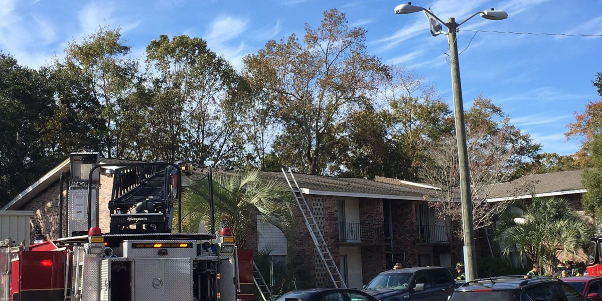 Firefighters extinguish blaze at the Palms Apartments