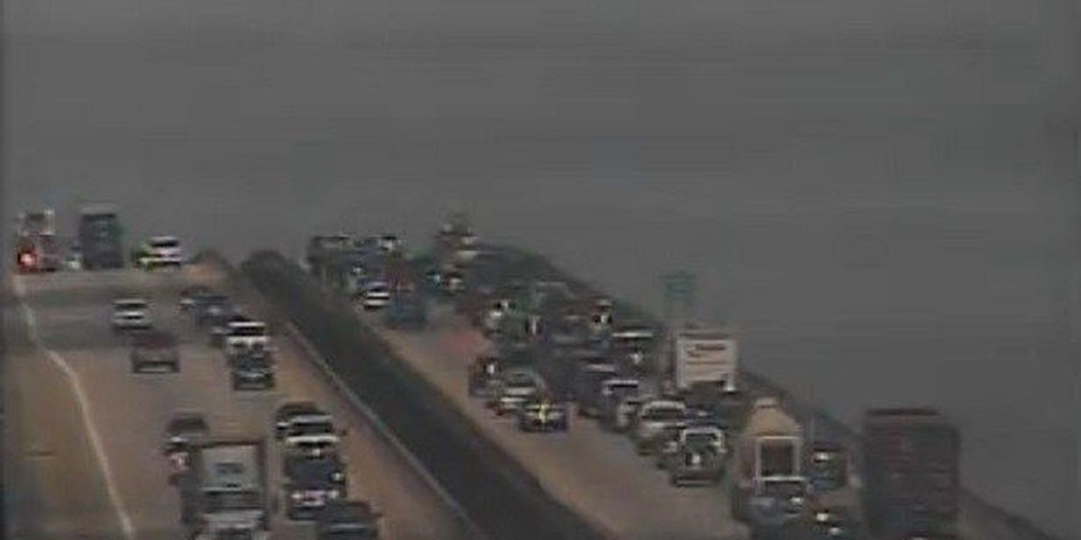 Traffic moving after accident in WB I-526 lane on Wando Bridge