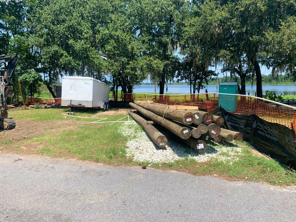 Construction underway for Hanahan's first boardwalk