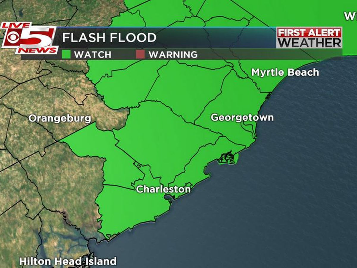 FIRST ALERT: Rain set daily rainfall records; flash flood watch in effect for most of Lowcountry