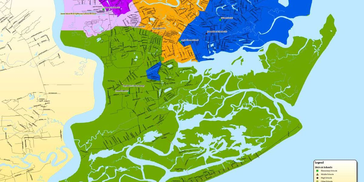 New CCSD attendance zone maps to affect families on James Island