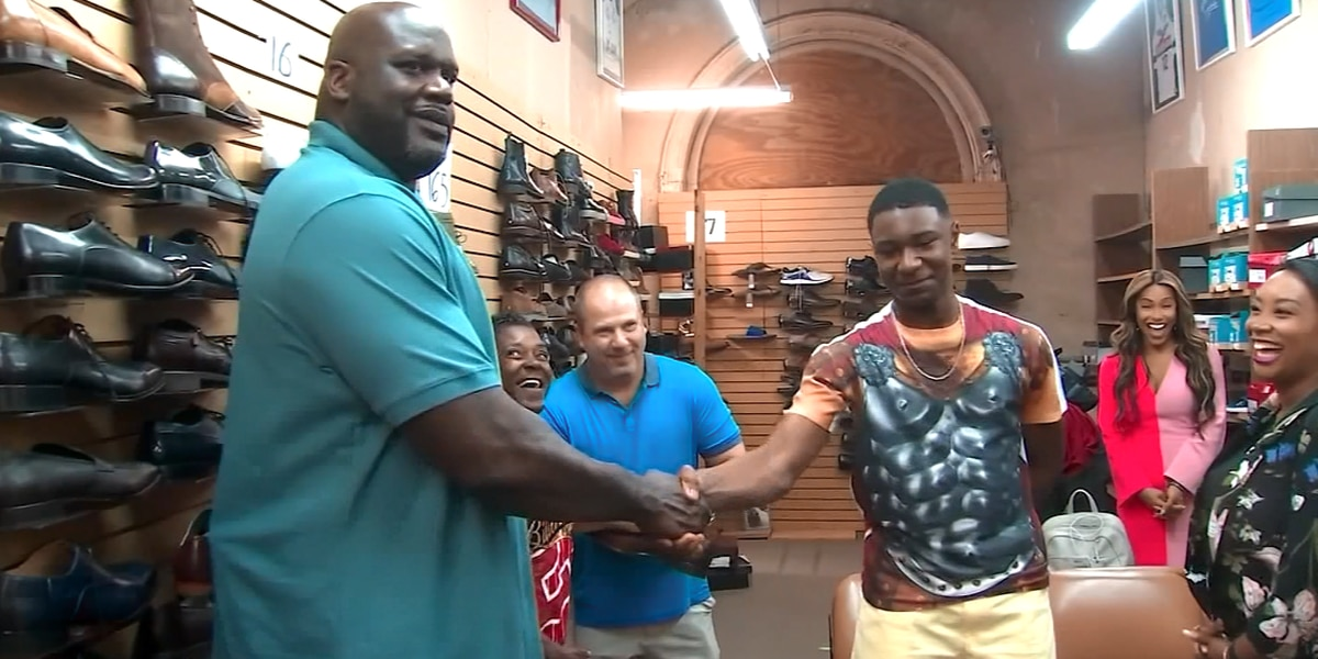 Shaq buys 10 pairs of shoes for teen who wears size 18