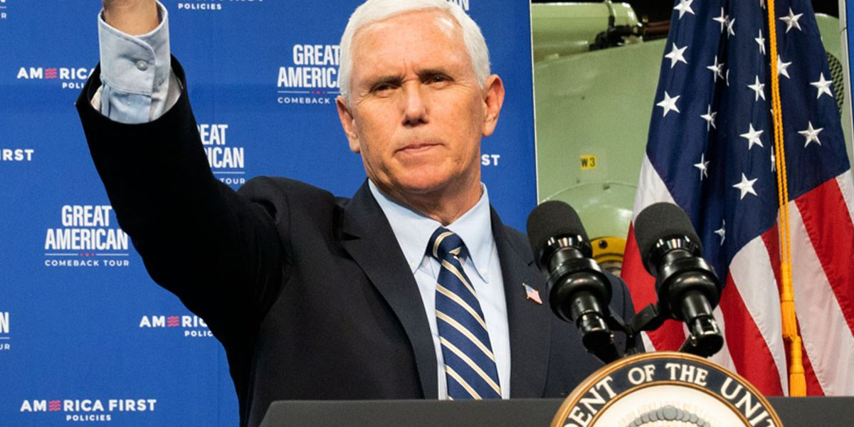 Eying 2024, Pence says he'll push back on 'liberal agenda'