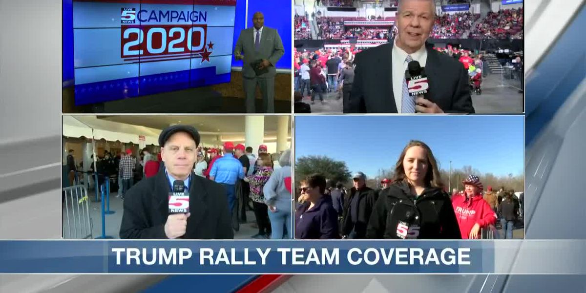 VIDEO: Thousands expected at President Trump rally at North Charleston Coliseum