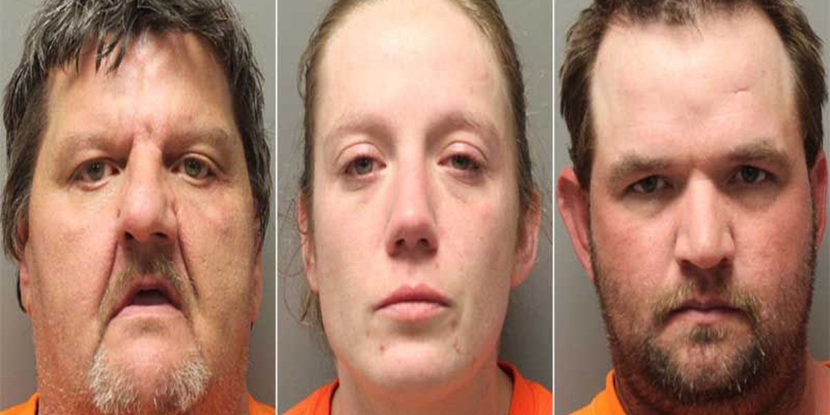 Report: Trio arrested after woman attempts to destroy meth lab evidence