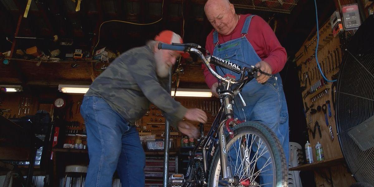 Two Fort Mill men repair hundreds of broken bikes for charity