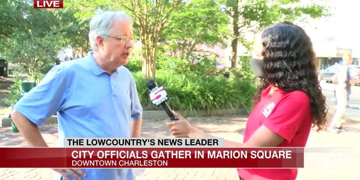 VIDEO: Charleston mayor, police chief speak on Saturday night's rioting