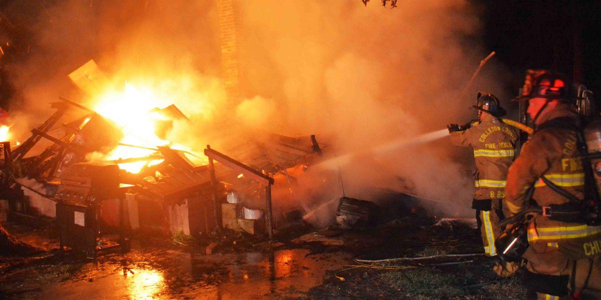Fire destroys Walterboro home