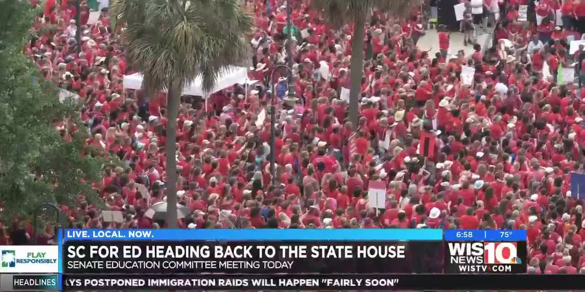 SC for Ed asking for same support seen at #AllOutMay1 as discussions over education reform continues Monday