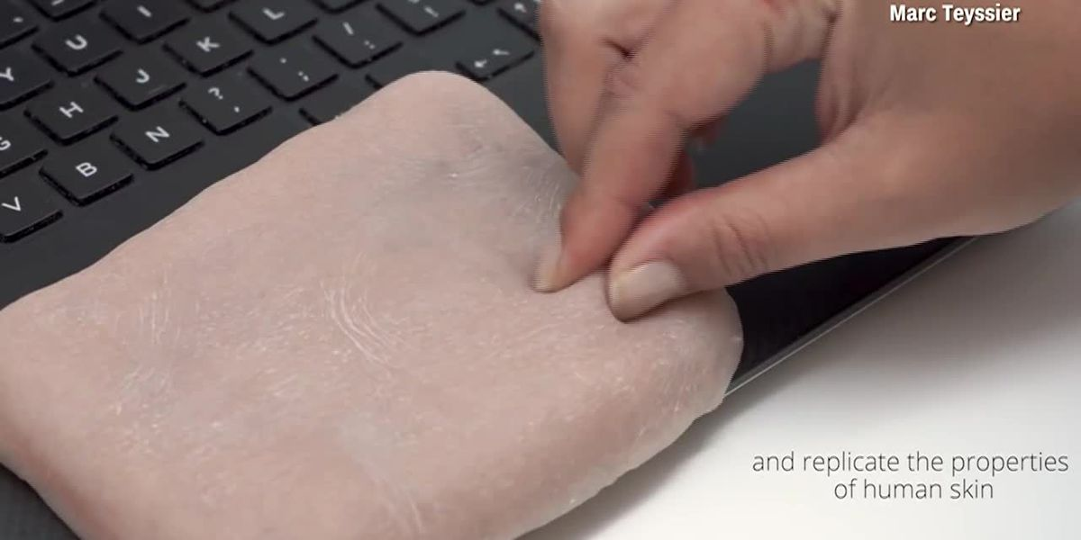 Phone case that looks and acts like human skin