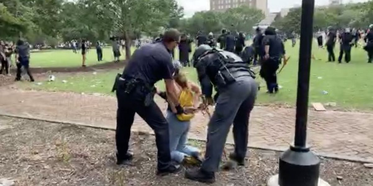 62 people arrested after weekend protests, riots in Charleston