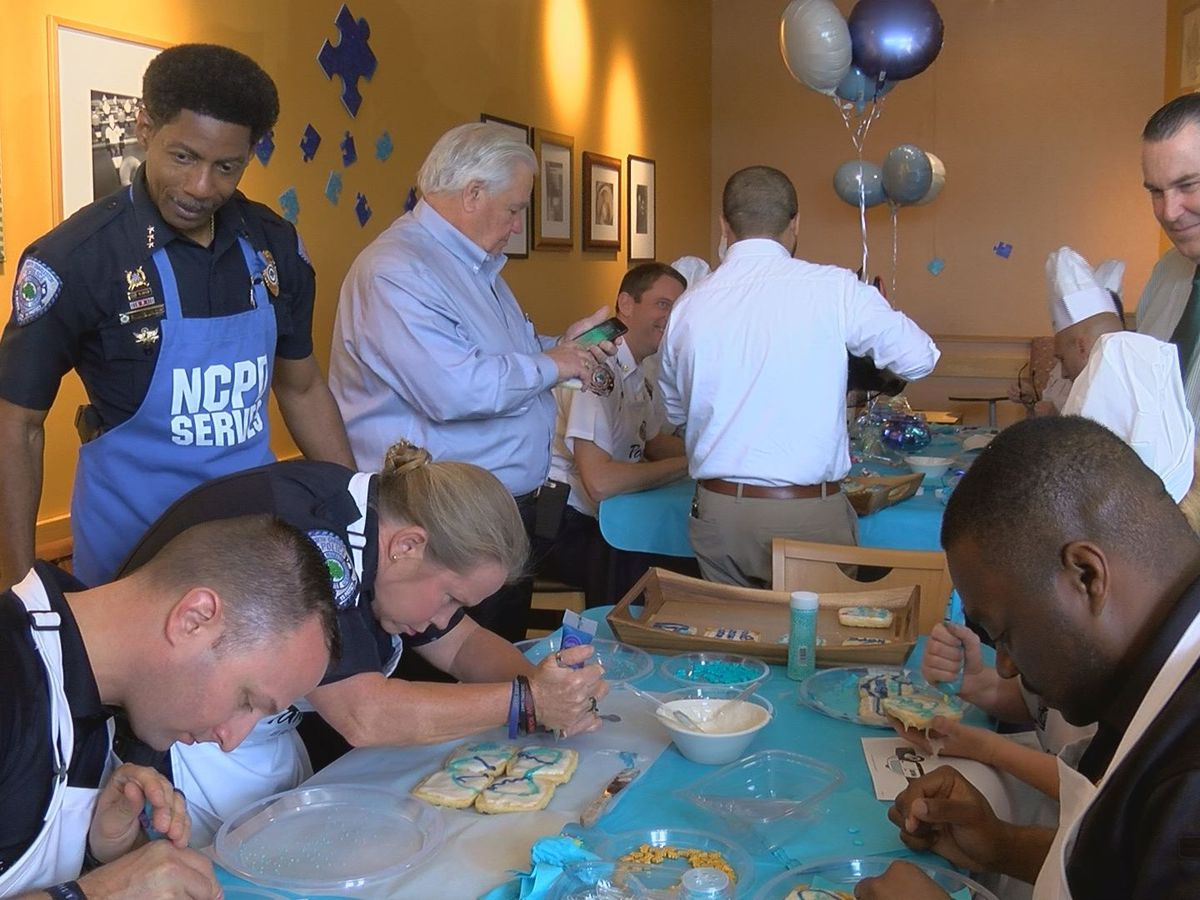 North Charleston Fire and Police departments compete to raise autism awareness