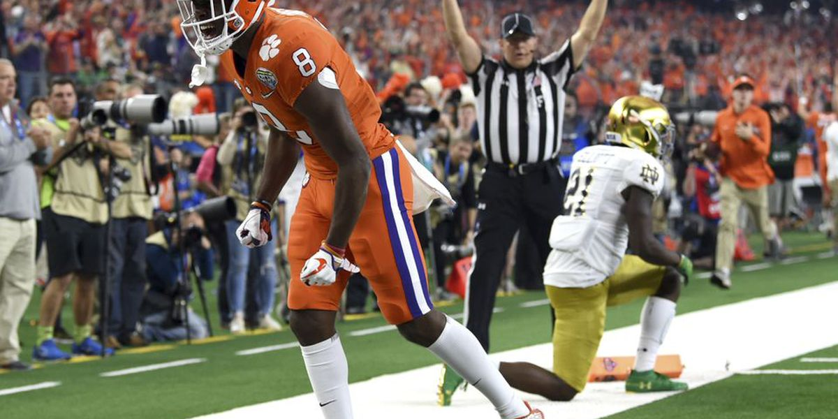 Clemson WR Ross out for the year due to spinal condition