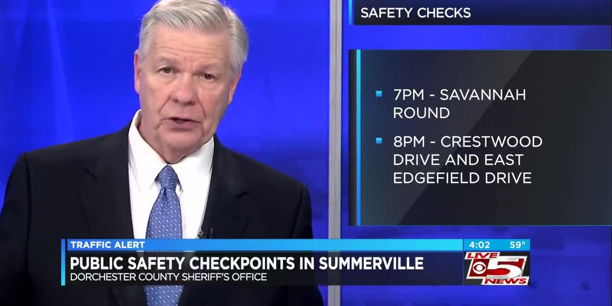 VIDEO: Dorchester deputies holding safety checkpoints in Summerville