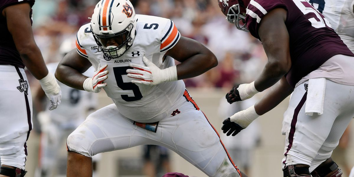 Panthers take Auburn's Derrick Brown in 1st round of NFL Draft