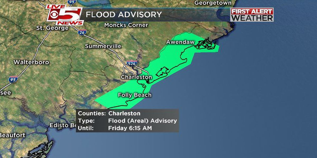 FIRST ALERT WEATHER: Flood advisory expires for Charleston County