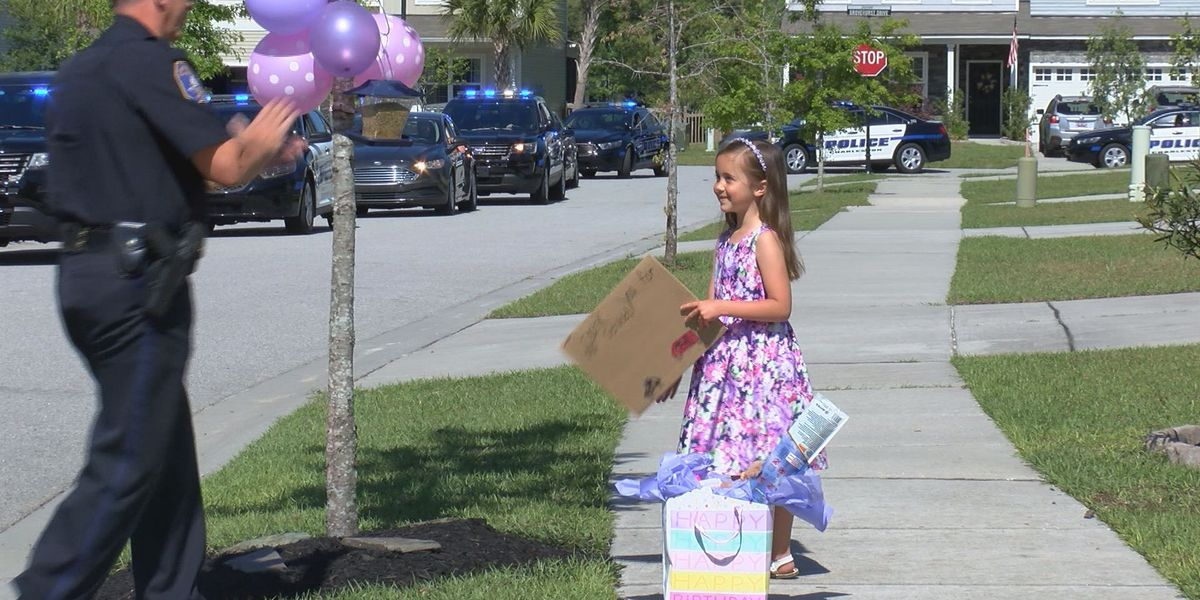 Lowcountry Strong: Charleston PD hold parade for 7-year-old who couldn't have birthday party