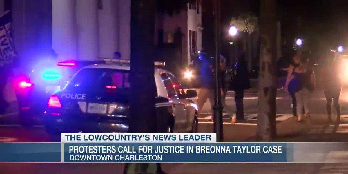 VIDEO: Protesters march for justice in downtown Charleston, vow to return Saturday