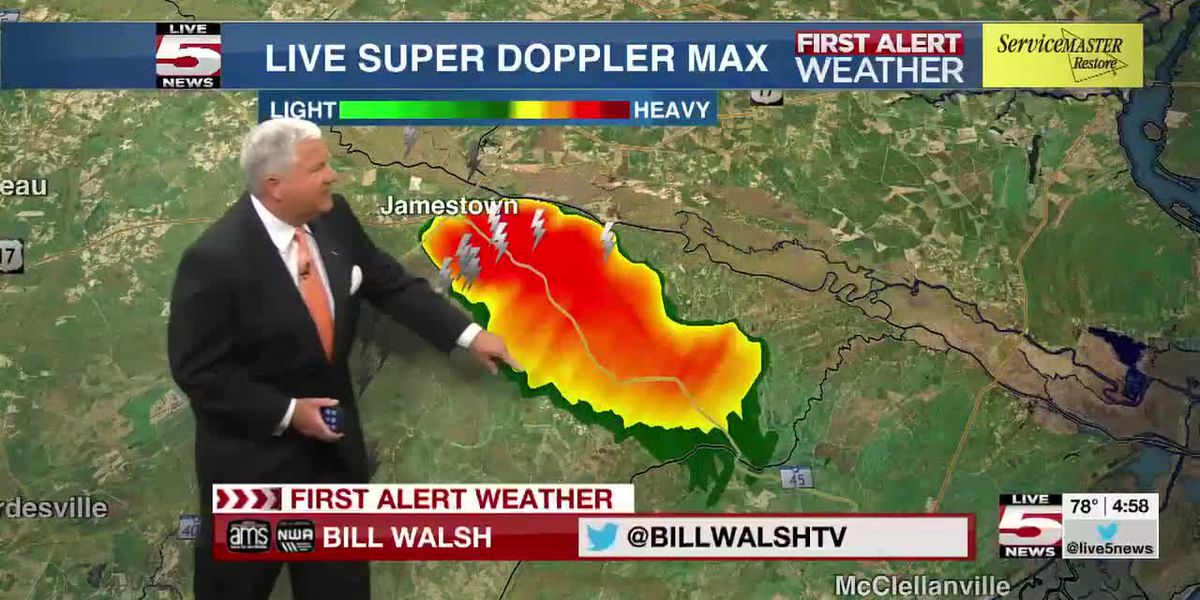 VIDEO: Isolated storms moving through Lowcountry