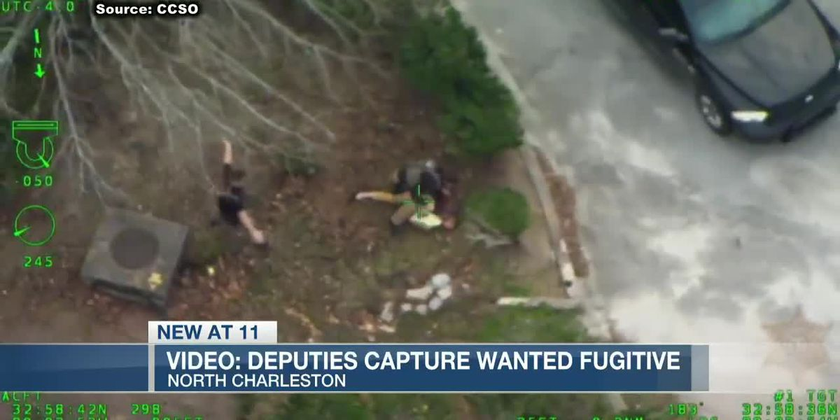 VIDEO: Aerial footage shows foot chase with fugitive in North Charleston