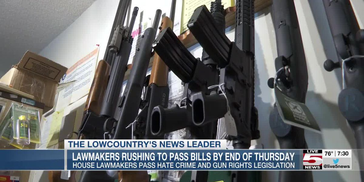 VIDEO:SC House passes permitless carrying of guns, hate crime bill before crucial deadline