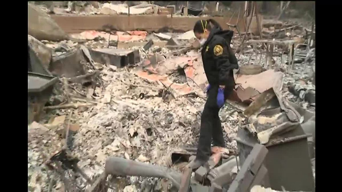 Authorities search through ashes of Paradise, hoping to find missing